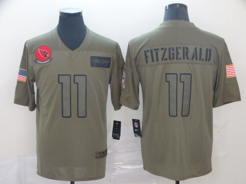 Men Arizona Cardinals 11 Fitzgerald Nike Camo 2019 Salute to Service Limited NFL Jerseys