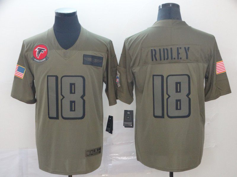 Men Atlanta Falcons 18 Ridley Nike Camo 2019 Salute to Service Limited NFL Jerseys