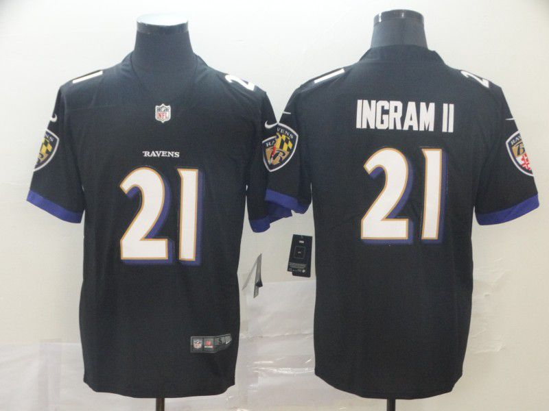 Men Baltimore Ravens 21 Ingram ii Black Nike Vapor Untouchable Limited Player NFL Jerseys