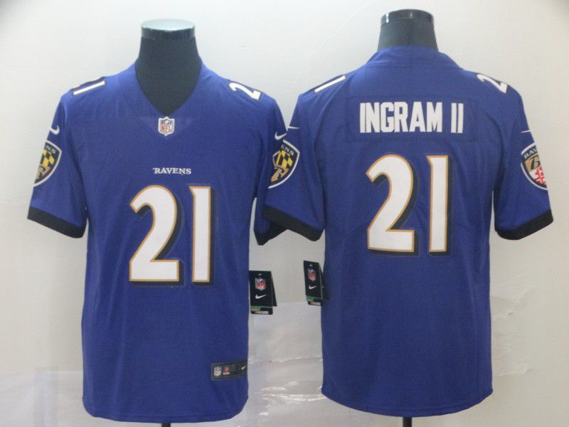 Men Baltimore Ravens 21 Ingram ii Purple Nike Vapor Untouchable Limited Player NFL Jerseys
