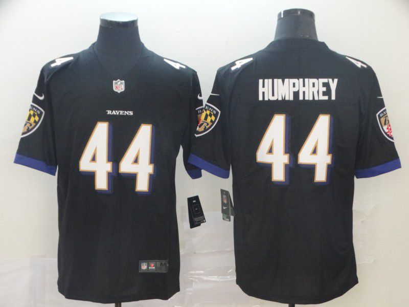 Men Baltimore Ravens 44 Humphrey Black Nike Vapor Untouchable Limited Player NFL Jerseys