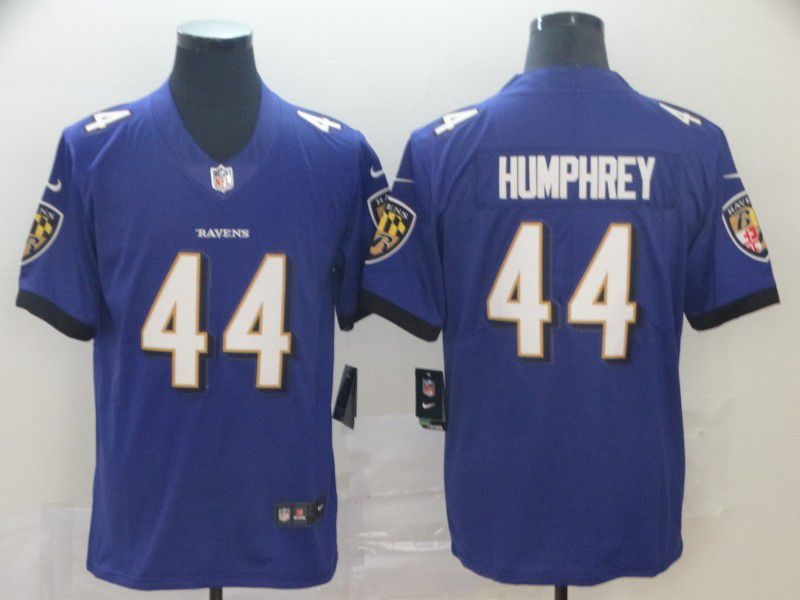 Men Baltimore Ravens 44 Humphrey Purple Nike Vapor Untouchable Limited Player NFL Jerseys