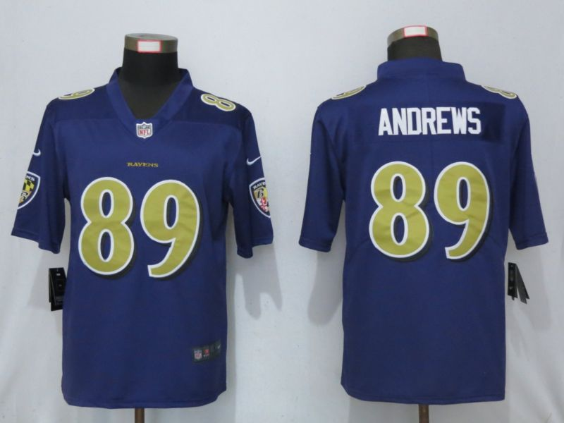 Men Baltimore Ravens 89 Andrews Navy Purple Nike Color Rush Limited NFL Jerseys