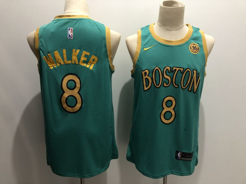 Men Boston Celtics 8 Walker Green Game Nike NBA Jerseys