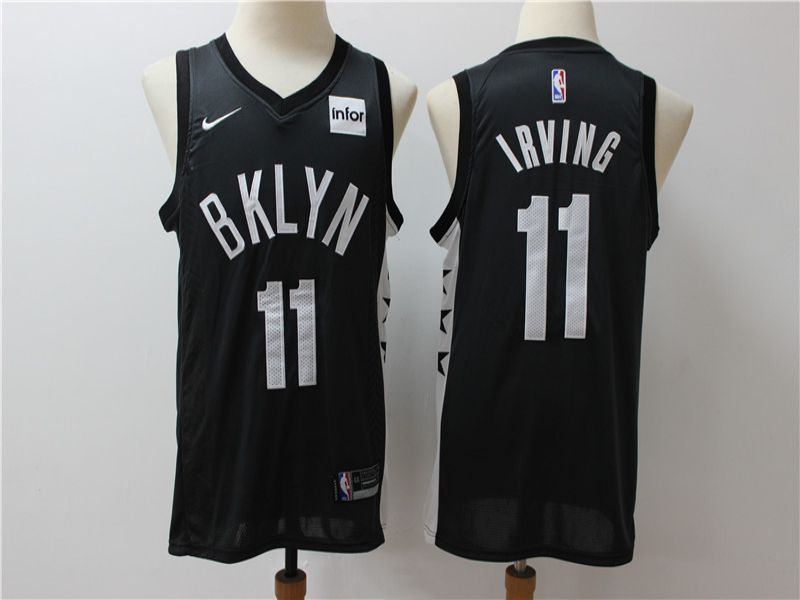 Men Brooklyn Nets 11 Irving Black Game Nike NBA Jerseys