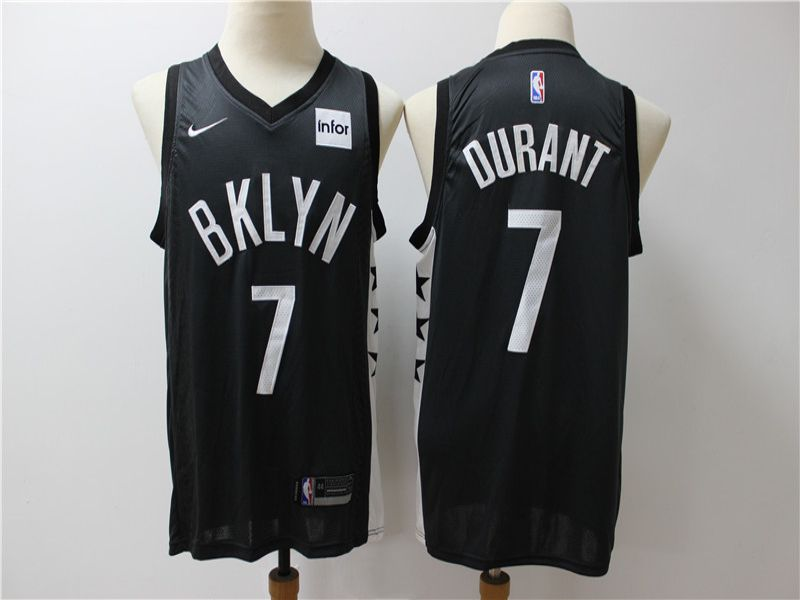 Men Brooklyn Nets 7 Durant Black Game Nike NBA Jerseys