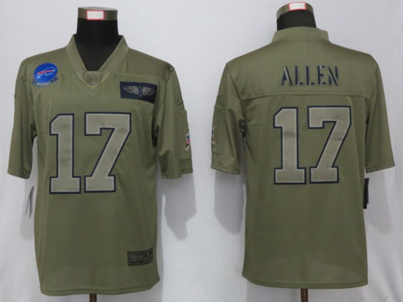 Men Buffalo Bills 17 Allen Nike Camo 2019 Salute to Service Limited NFL Jerseys