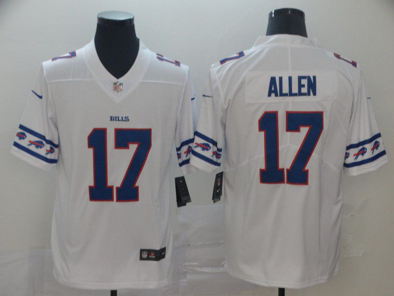Men Buffalo Bills 17 Allen White team logo cool edition NFL Jerseys