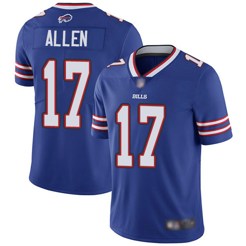 Men Buffalo Bills 17 Josh Allen Royal Blue Team Color Vapor Untouchable Limited Player NFL Jersey
