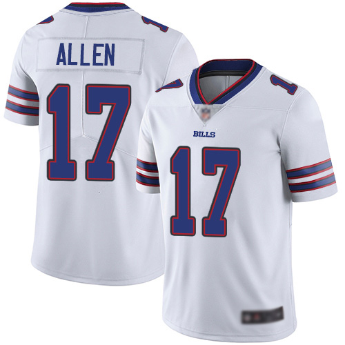Men Buffalo Bills 17 Josh Allen White Vapor Untouchable Limited Player NFL Jersey