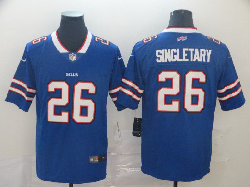 Men Buffalo Bills 26 Singletary Blue Nike Vapor Untouchable Limited Player NFL Jerseys