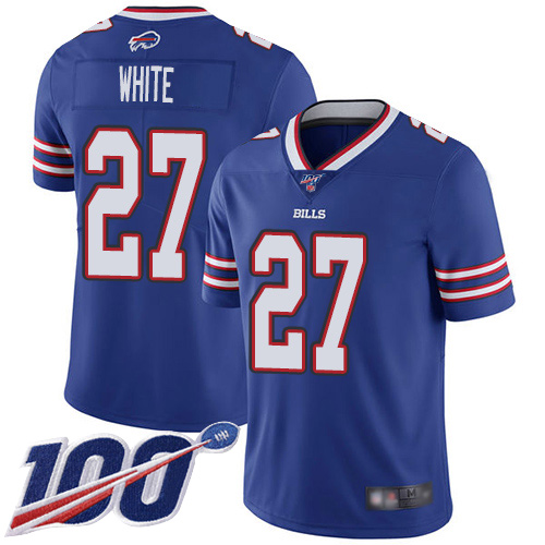 Men Buffalo Bills 27 Tre Davious White Royal Blue Team Color Vapor Untouchable Limited Player 100th Season NFL Jersey