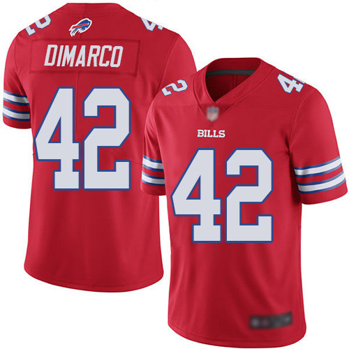 Men Buffalo Bills 42 Patrick DiMarco Limited Red Rush Vapor Untouchable NFL Jersey