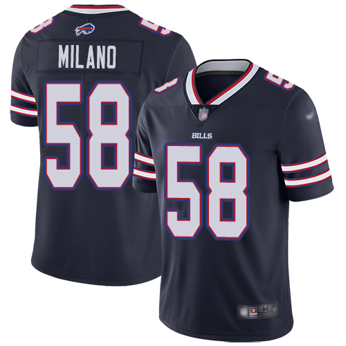Men Buffalo Bills 58 Matt Milano Limited Navy Blue Inverted Legend NFL Jersey