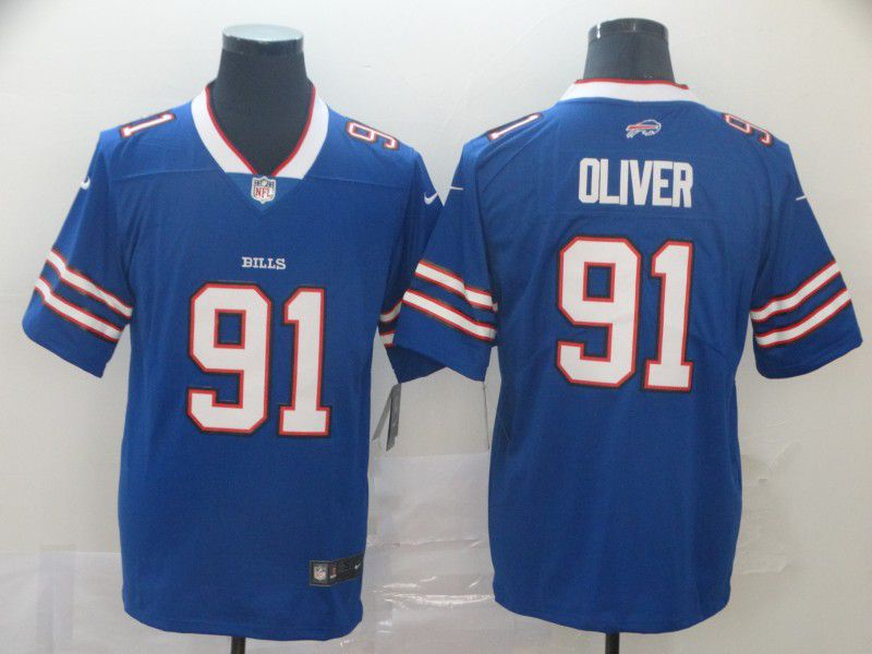 Men Buffalo Bills 91 Oliver Blue Nike Vapor Untouchable Limited Player NFL Jerseys
