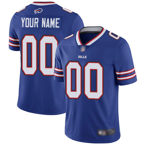 Men Buffalo Bills Customized Royal Blue Team Color Vapor Untouchable Custom Limited Football Jersey
