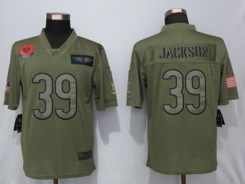 Men Chicago Bears 39 Jackson Nike Camo 2019 Salute to Service Limited NFL Jerseys