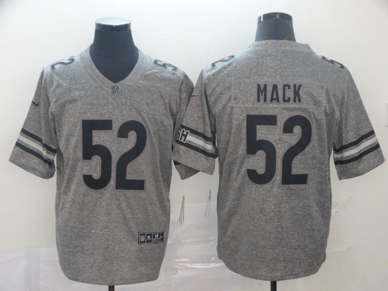 Men Chicago Bears 52 Mack Gray Nike Vapor Untouchable Stitched Gridiron Limited NFL Jerseys