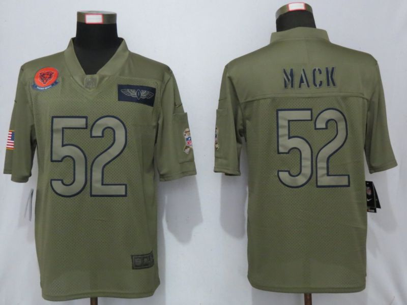 Men Chicago Bears 52 Mack Nike Camo 2019 Salute to Service Limited NFL Jerseys