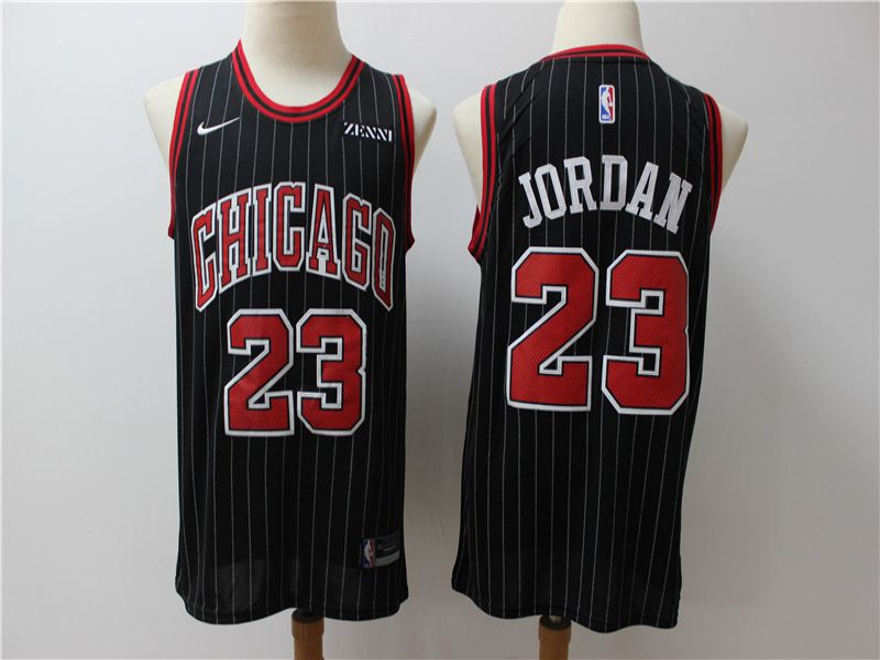 Men Chicago Bulls 23 Jordan Black Game Nike NBA Jerseys
