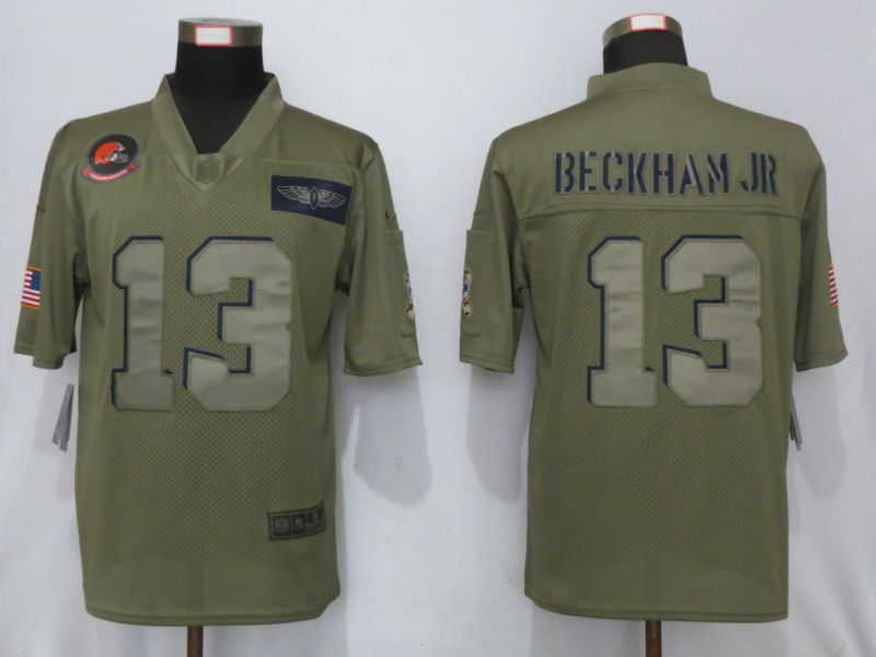 Men Cleveland Browns 13 Beckham jr Nike Camo 2019 Salute to Service Limited NFL Jerseys