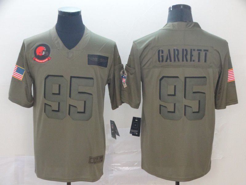 Men Cleveland Browns 95 Garrett Nike Camo 2019 Salute to Service Limited NFL Jerseys