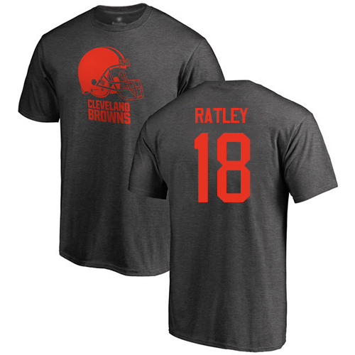 Men Cleveland Browns Damion Ratley Ash Jersey 18 NFL Football One Color T Shirt