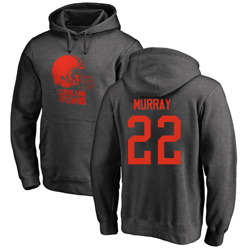Men Cleveland Browns Eric Murray Ash Jersey 22 NFL Football One Color Pullover Hoodie Sweatshirt