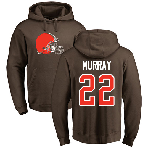 Men Cleveland Browns Eric Murray Brown Jersey 22 NFL Football Name and Number Logo Pullover Hoodie Sweatshirt