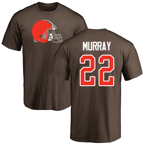 Men Cleveland Browns Eric Murray Brown Jersey 22 NFL Football Name and Number Logo T Shirt