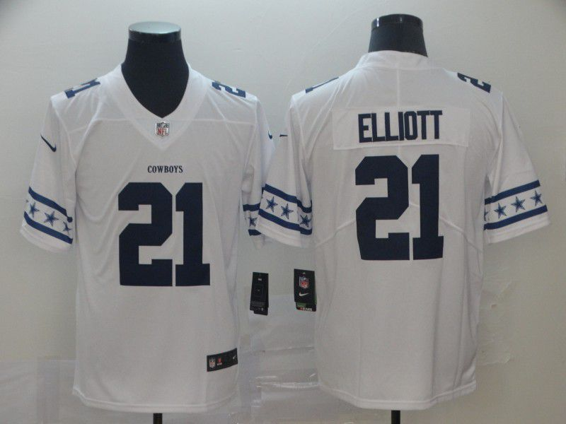 Men Dallas cowboys 21 Elliott White team logo cool edition NFL Jerseys
