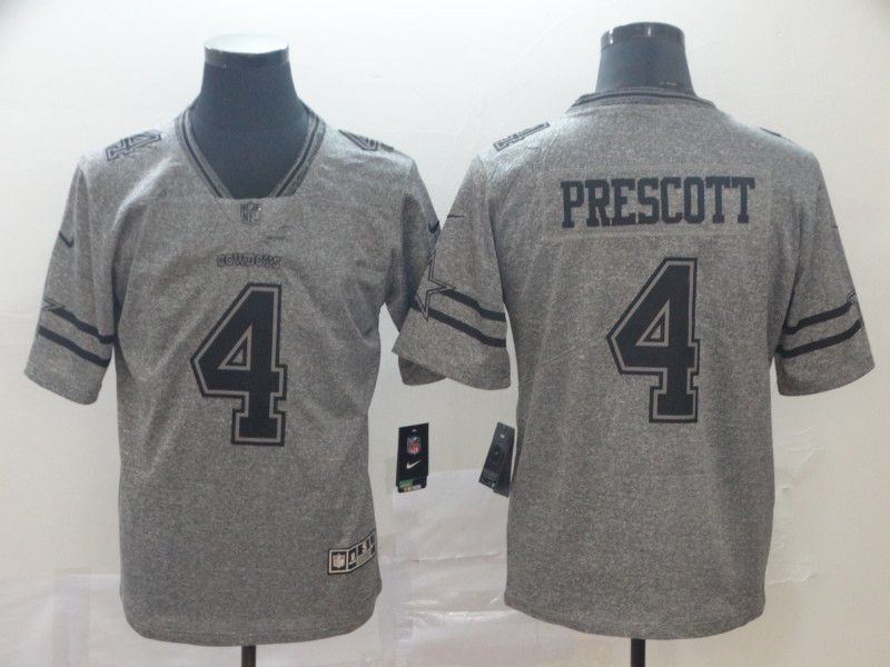 Men Dallas cowboys 4 Prescott Gray Nike Vapor Untouchable Stitched Gridiron Limited NFL Jerseys