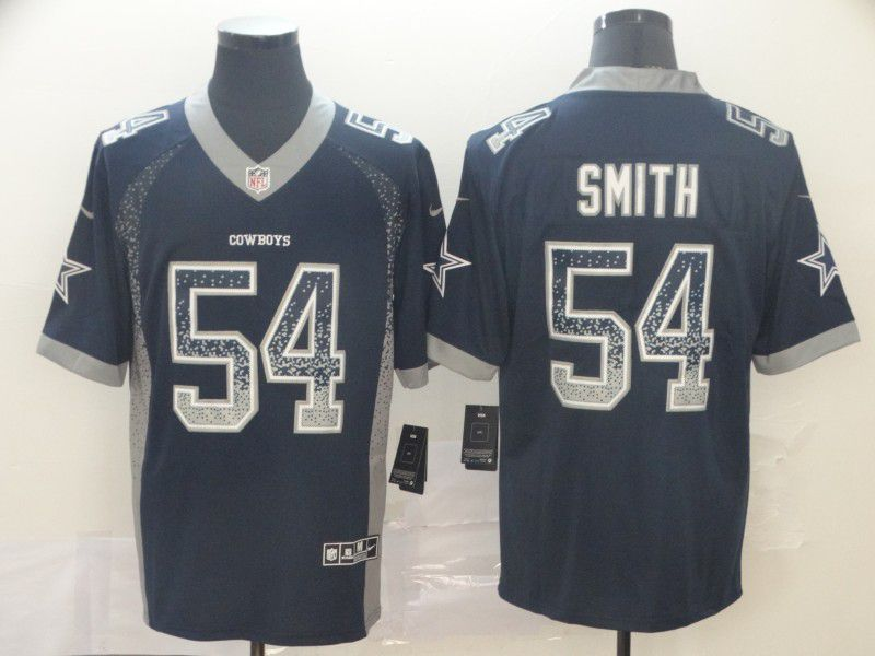 Men Dallas cowboys 54 Smith Black Nike Drift Fashion Color Rush Limited Jersey