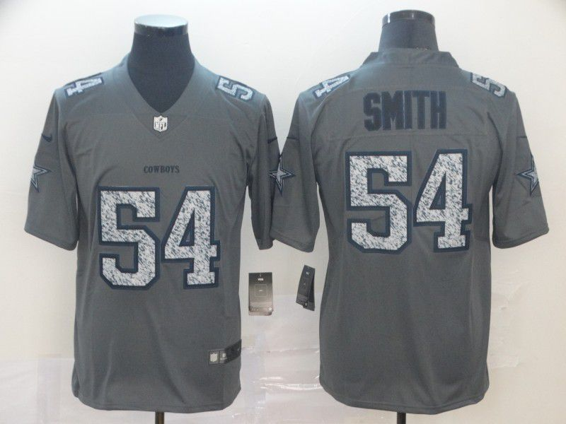 Men Dallas cowboys 54 Smith Grey Nike Teams Gray Fashion Static Limited NFL Jersey