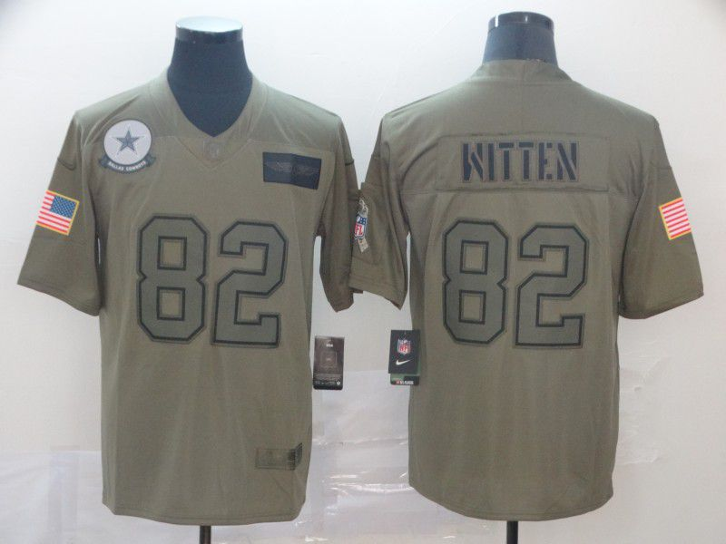 Men Dallas cowboys 82 Witten Nike Camo 2019 Salute to Service Limited NFL Jerseys