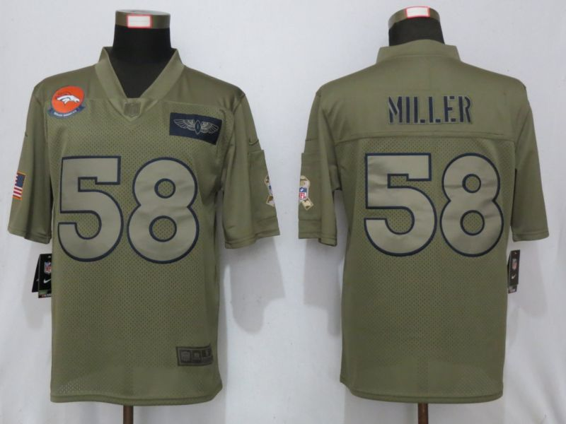 Men Denver Broncos 58 Miller Nike Camo 2019 Salute to Service Limited NFL Jerseys