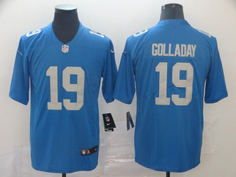 Men Detroit Lions 19 Golladay Blue Nike Vapor Untouchable Limited Player NFL Jerseys