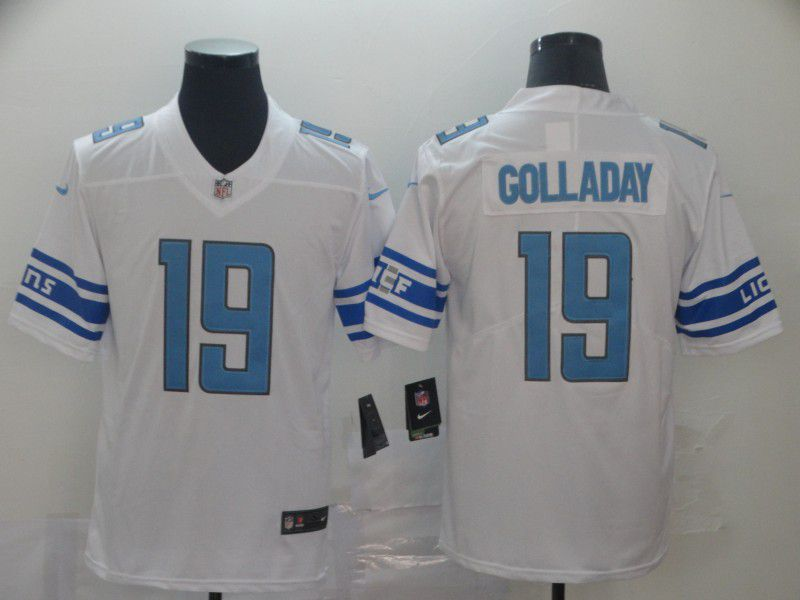 Men Detroit Lions 19 Golladay White Nike Vapor Untouchable Limited Player NFL Jerseys