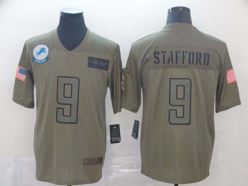 Men Detroit Lions 9 Stafford Nike Camo 2019 Salute to Service Limited NFL Jerseys