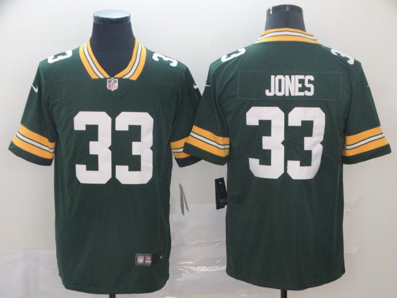 Men Green Bay Packers 33 Jones Green Nike Vapor Untouchable Limited Player NFL Jerseys