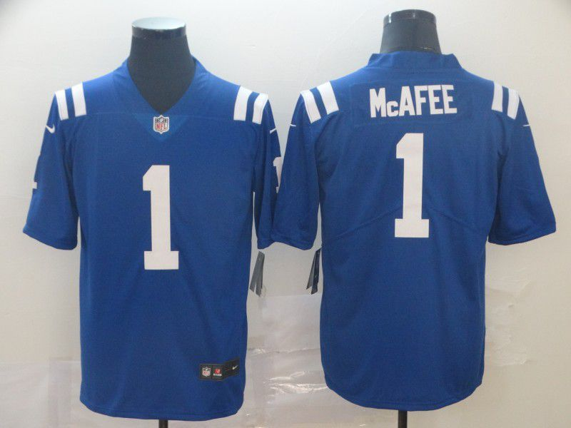 Men Indianapolis Colts 1 Mcafee Blue Nike Vapor Untouchable Limited Player NFL Jerseys