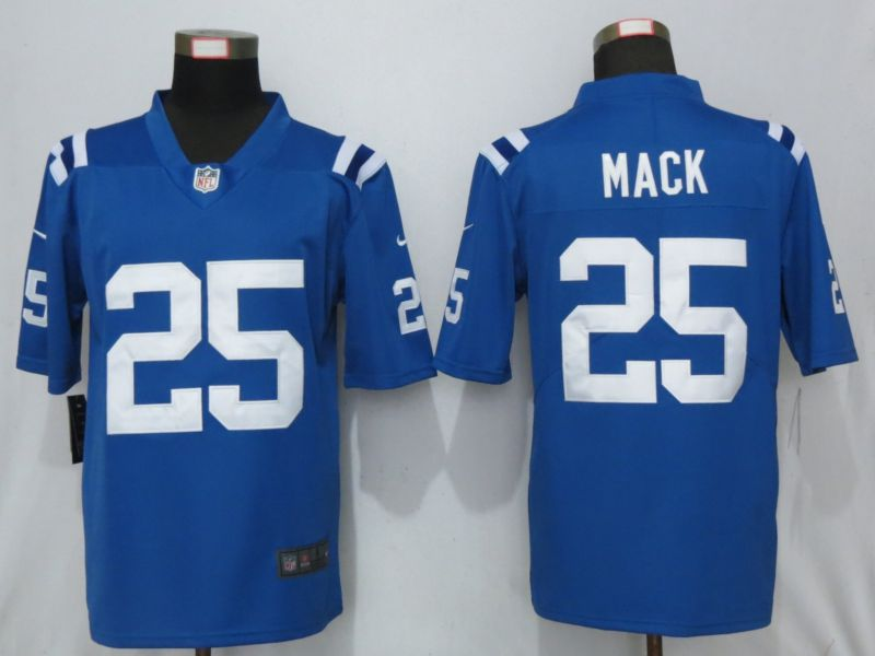 Men Indianapolis Colts 25 Mack Blue Nike Vapor Untouchable Limited Playe NFL Jerseys