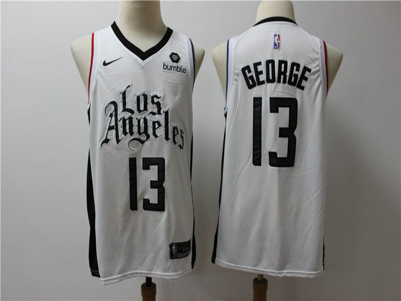 Men Los Angeles Clippers 13 George White Game Nike NBA Jerseys