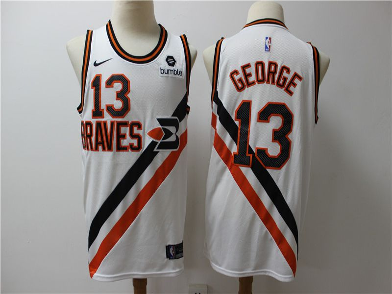 Men Los Angeles Clippers 13 George white City Edition Game Nike NBA Jerseys