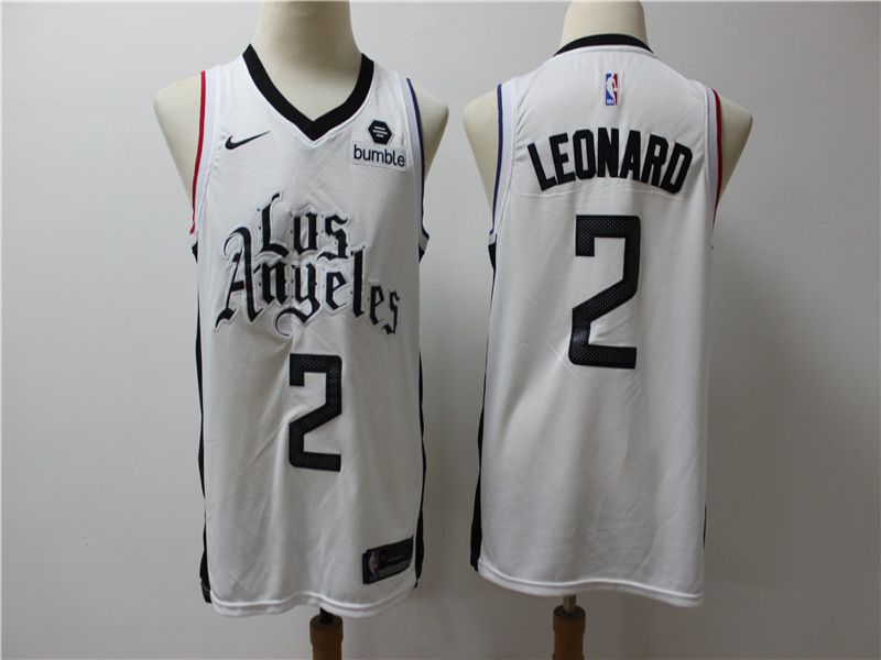 Men Los Angeles Clippers 2 Leonard White Game Nike NBA Jerseys