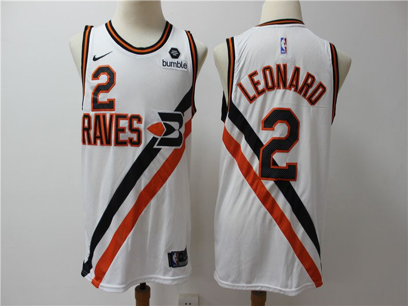 Men Los Angeles Clippers 2 Leonard white City Edition Game Nike NBA Jerseys