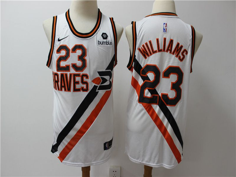 Men Los Angeles Clippers 23 Williams White City Edition Game Nike NBA Jerseys