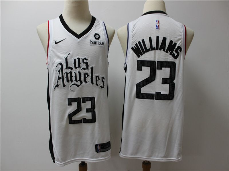 Men Los Angeles Clippers 23 Williams White Game Nike NBA Jerseys