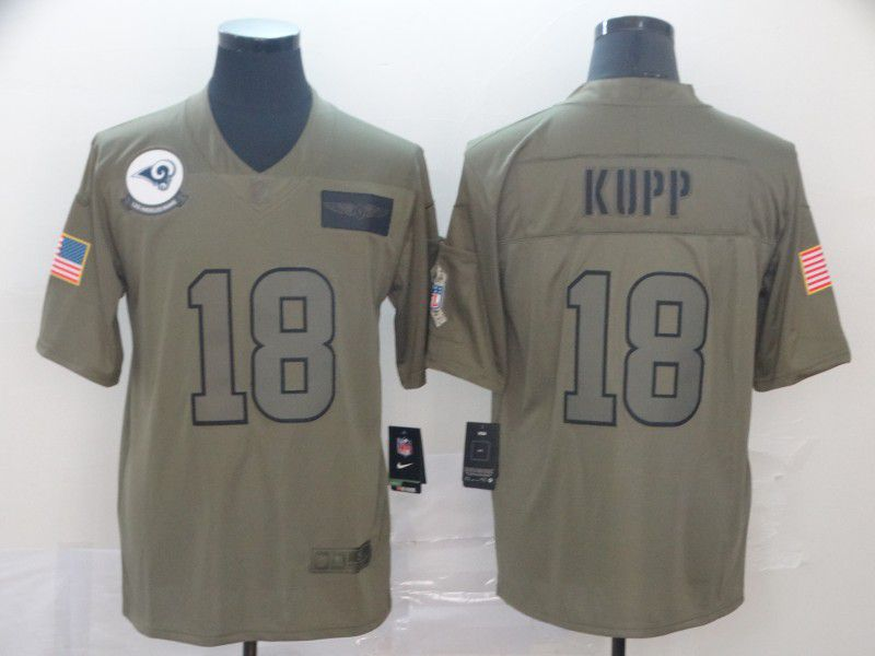 Men Los Angeles Rams 18 Kupp Nike Camo 2019 Salute to Service Limited NFL Jerseys