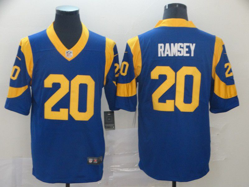 Men Los Angeles Rams 20 Ramsey Blue Nike Vapor Untouchable Limited Player NFL Jerseys